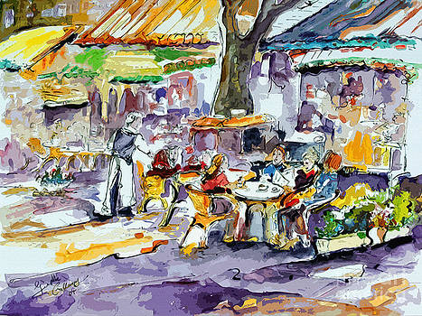 Ginette Callaway - French Bistro Street Scene