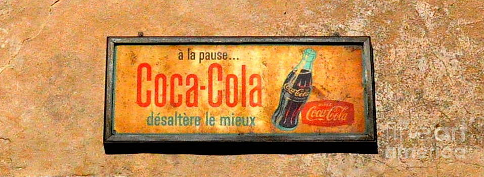 French Coca-Cola Sign in Roquebrune Cap Martin's  by Tanya  Searcy