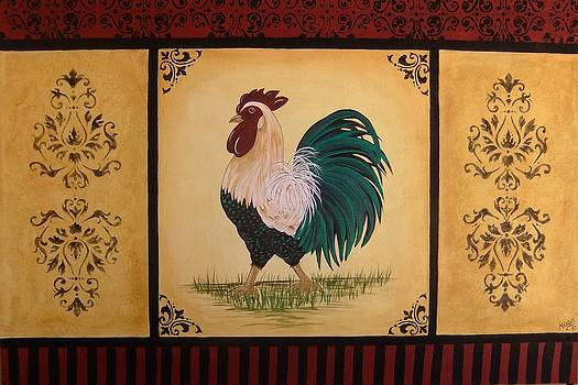 French Country Rooster by Cindy Micklos