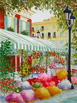 French FLower Market by Becky Taylor Fine Art
