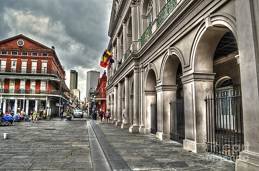 French Quarter near Cathedral by Timothy Lowry
