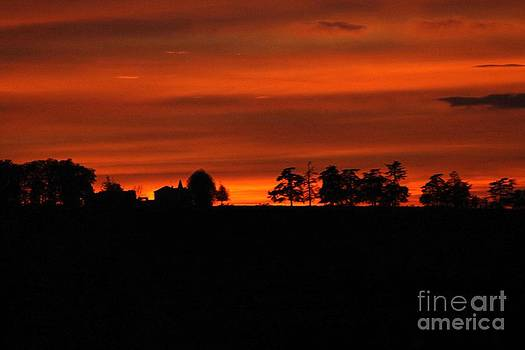 French sunset by Frances Hodgkins