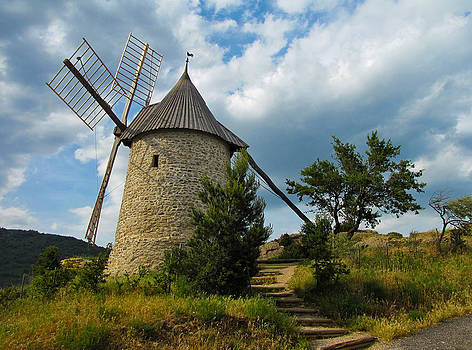 French Village Windmill by Jacqi Elmslie