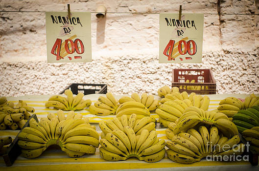 Fresh Bananas On A Street Fair In Brazil by Ricardo Lisboa