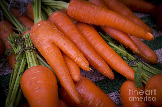 Fresh Carrots on a street fair in Brazil by Ricardo Lisboa