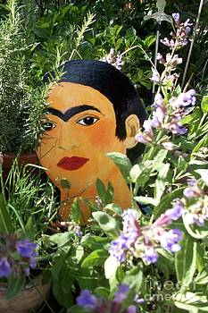 Frida hiding behind the sage by Viva La Vida Galeria Gloria