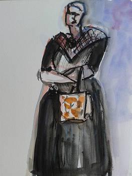 Frida with a bag by Tali Farchi
