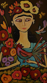 Frida with Colorful Chicken by Bailey Jack