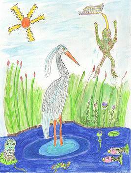 Froggy Fishing by Helen Holden-Gladsky