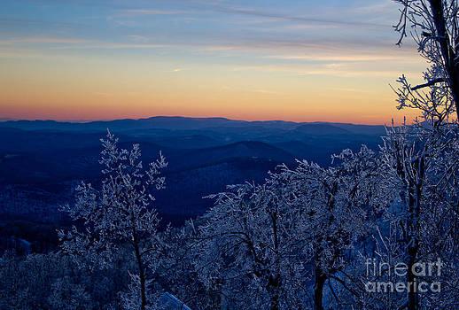Frozen Blue Ridge by Tom Carriker