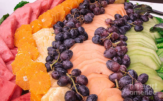 Fruit food catering tray by Lisa Anne McKee