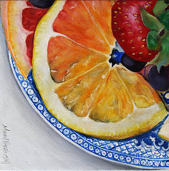 Fruit Plate by Mary Hughes