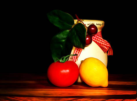Fruits and Jar by Cecil Fuselier