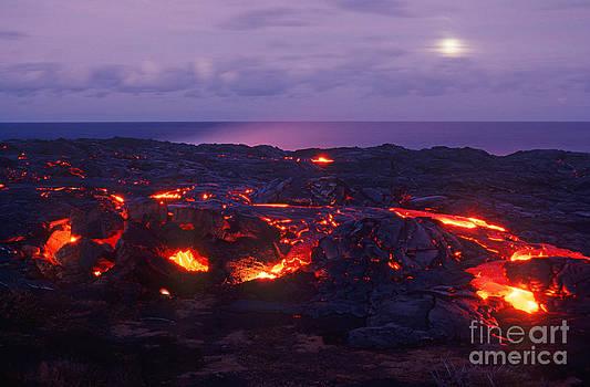 Full Moon at Kilauea by David Olsen