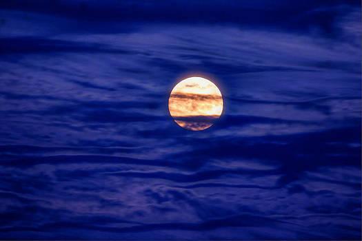 Full Moon In A Sea Of Twilight Cloud by David M Jones