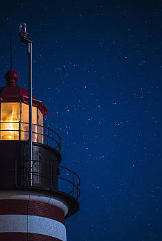 Full Moon on Quoddy No 2 by Marty Saccone