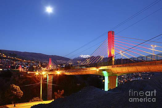 James Brunker - Full Moon over Triple Bridges La Paz