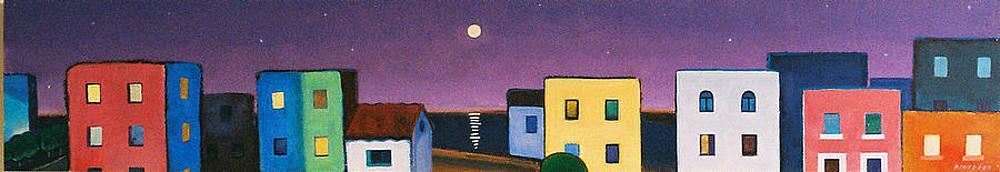 Full Moon Purple Sky by Jorge Pinto