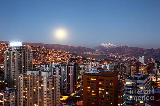James Brunker - Full Moon Rising Over La Paz