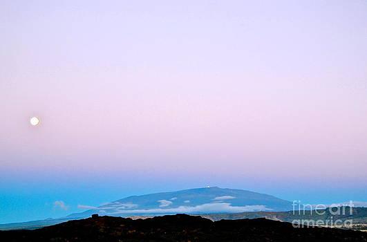 Full Moon Rising Over Mauna Kea Kona side by Lehua Pekelo-Stearns