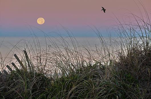 Full Moon Setting by John Clemmer Photography