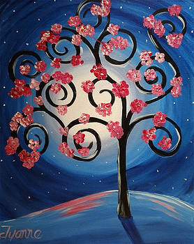 Funky Cherry Blossom Tree by Dyanne Parker