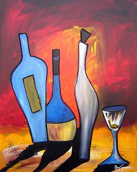 Funky Wine 17 by Gino Savarino
