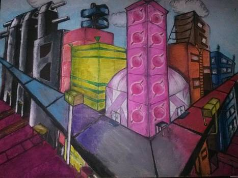 Futuristic City by Tracy Lawrence