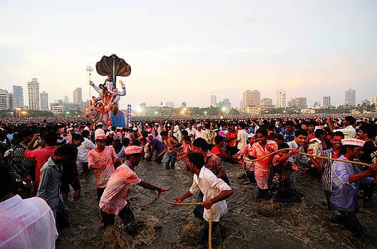 Ganesha's Final Procession by Money Sharma