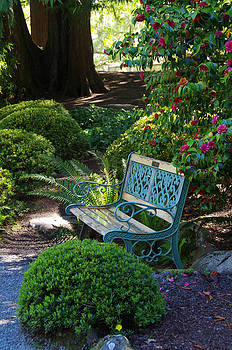 Marilyn Wilson - Garden Bench at Hatley Park Gardens