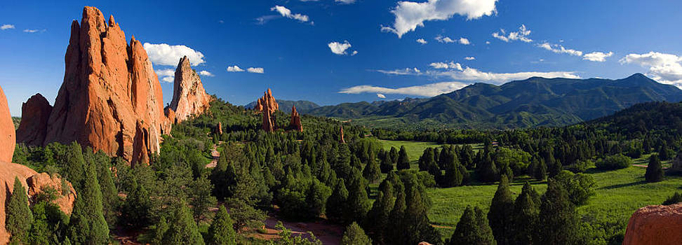 Garden of the Gods Panorama at it's Best by John Hoffman