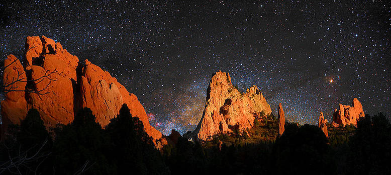 Garden of the Gods with Milky Way Galaxy by John Hoffman