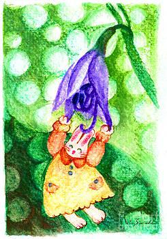 Garden Rabbit-2 Hosta by Vin Kitayama