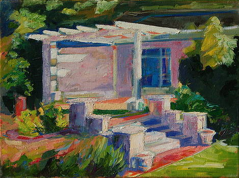 Garden with Steps Afternoon Light by Thomas Bertram POOLE