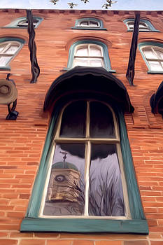 Garman with Courthouse Reflection by Mary Vollero