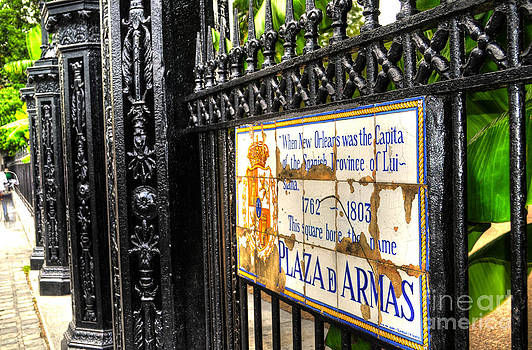 Gate at Jackson Square New Orleans by Timothy Lowry