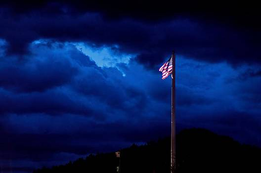 Gave proof through the night that our flag was still there. by Donald J Gray