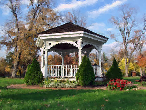 Gazebo at Olmsted Falls - 1 by Mark Madere