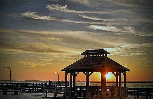 Gazebo at the ocean by Mikki Cucuzzo