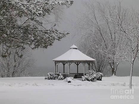 Gazebo in Winter by Avis  Noelle