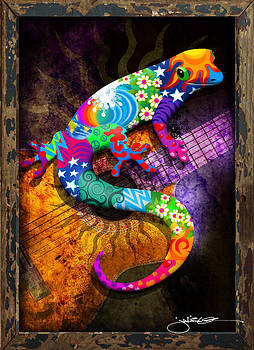 Gecko Guitar by Julie Oakes