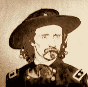 George A.Custer plaque No 2 by Timothy Wilkerson