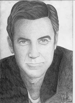 George Clooney Portrait by Sarah Maria Scharfe
