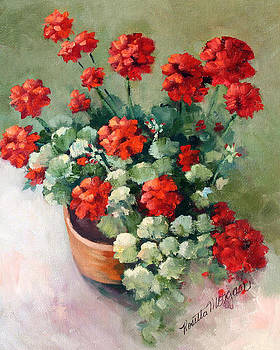 Geranium Pot by Rosie Morgan