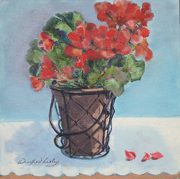 Geraniums by Winifred Lesley