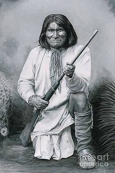 Geronimo '86 - painting by Stu Braks