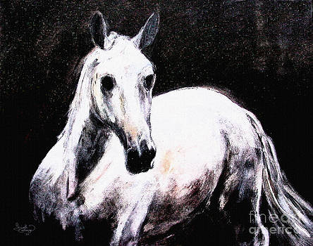 Ginette Callaway - Ghost Horse Modern Painting