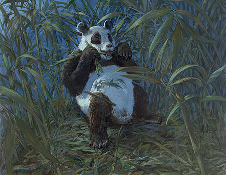 Giant Panda by ACE Coinage painting by Michael Rothman