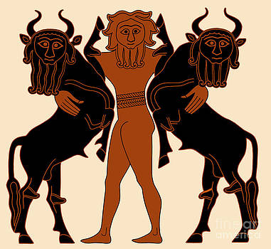 Science Source - Gilgamesh Subduing Two Bulls