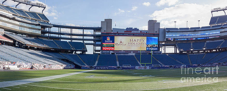 Gillette Stadium at Christmas by Thomas Marchessault